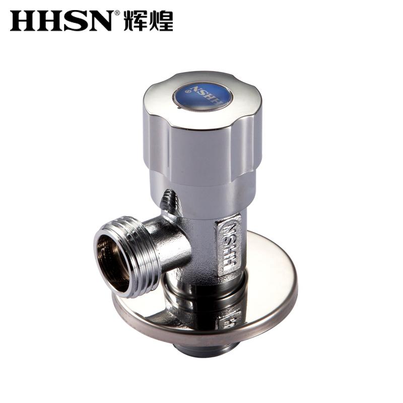 【预定】HHSN辉煌热水器马桶三角阀三通止水阀开关全铜冷热水角阀卫浴